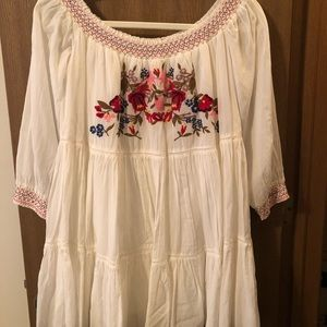 Free People off the shoulder peasant dress